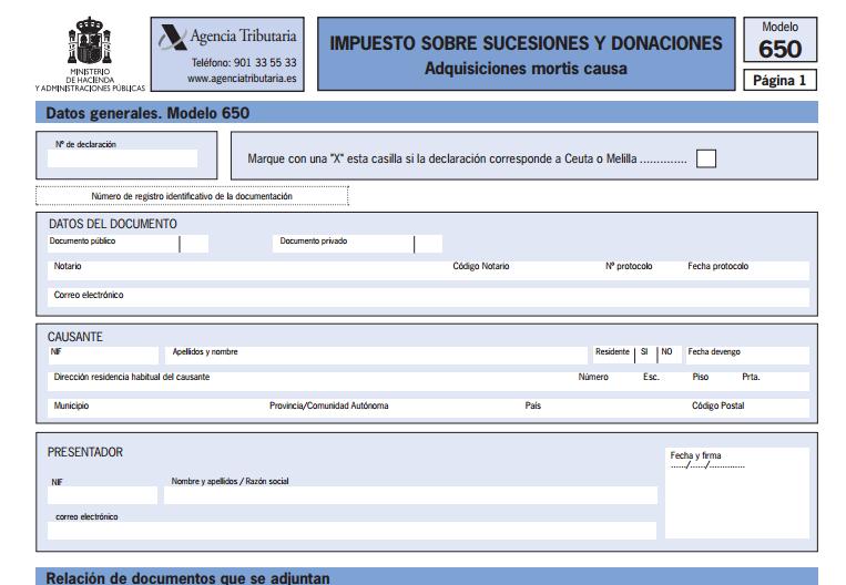 Qu es el impuesto de sucesiones for Sellar paro por internet andalucia certificado digital