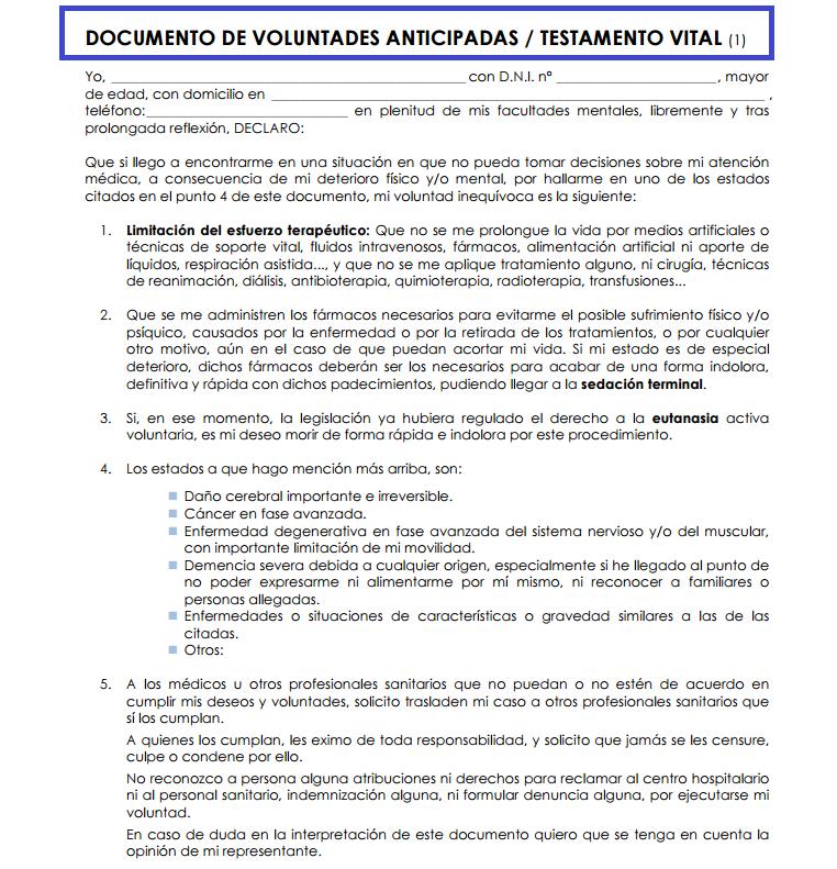 TESTAMENTO VITAL PDF DOWNLOAD