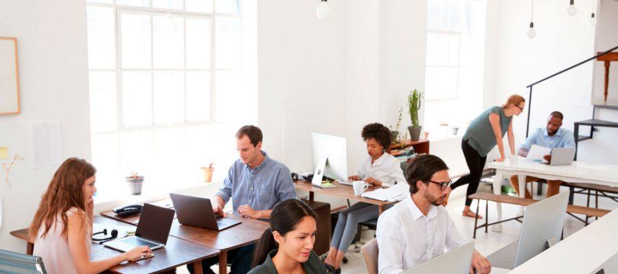 Coworking modelo de oficina en auge